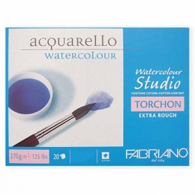 Bloco Watercolour Studio 270g Com 20 Folhas 30.5x45.5 Torchon Extra Rough Fabriano - 72703045