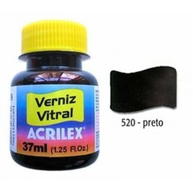 Verniz Vitral Preto 37ml Acrilex
