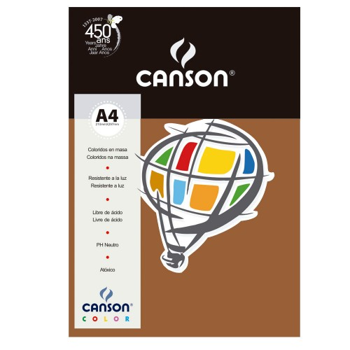CANSON COLOR A4 180G 10 FOLHAS CHOCOLATE - 66661273
