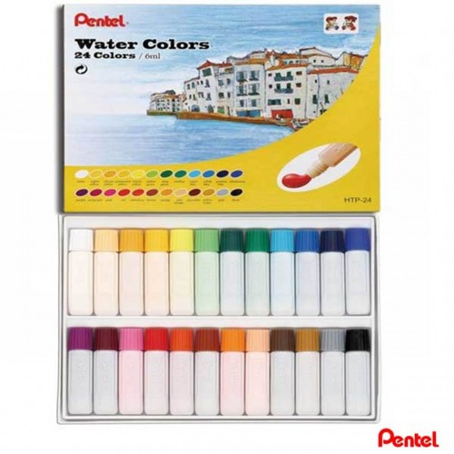 Tinta Aquarela Pentel 24 Cores Water Colors Htp-24